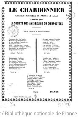 Le charbonnier : chanson nouvelle en patois de Lille... / [signé : Danis]