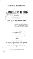 La capitulation de Paris : prédictions d'un officier républicain L. Matuszewicz. 1871