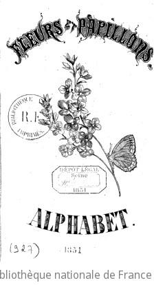 Fleurs et papillons. Alphabet
