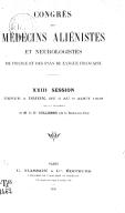 Image from Gallica about Congrès de psychiatrie et de neurologie de langue française