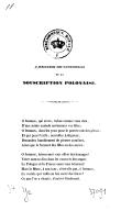 A Mesdames les Patronesses de la Souscription Polonaise. (29 décembre 1837.)