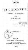 Essai sur la diplomatie, manuscrit d'un philhellène  Publié par M. Toulouzan. 1830