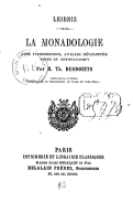 Image from Gallica about Monadologie