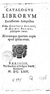 Bildung aus Gallica über Gilles Alliot (1636-1674)