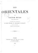 Les Orientales  V. Hugo. 1882