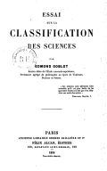 Image from Gallica about Classification des sciences