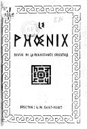 Le Phœnix : revue de la renaissance orientale  1925-1927