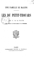Illustration de la page Du Petit-Thouars (famille) provenant de Wikipedia