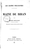 Image from Gallica about Maine de Biran (1766-1824)