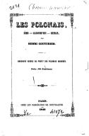 Les polonais : hier, aujourd'hui, demain par Henri Couturier. 1846