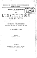 Illustration de la page De l'institution des enfants provenant de Wikipedia