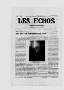 Le sionisme est irréalisable sous sa forme actuelle  Grand Rabbin S. Tagger. In: Les échos de Damas,  2 novembre 1929