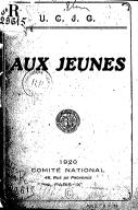 Image from Gallica about Comité national des Unions chrétiennes de jeunes gens. France