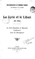 La Foire-Exposition de Beyrouth en 1921 (Syrie et Liban)