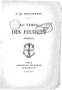 Bildung aus Gallica über Paul de Pontsevrez (1856?-1910)