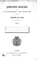 Illustration de la page Association française pour l'avancement des sciences. Congrès (003 ; 1874 ; Lille) provenant de Wikipedia