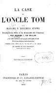Illustration de la page Uncle Tom's cabin provenant du document numerisé de Gallica