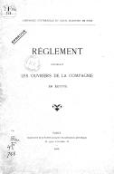 Règlement concernant les ouvriers de la compagnie en Egypte  Compagnie universelle du canal maritime de Suez. 1893
