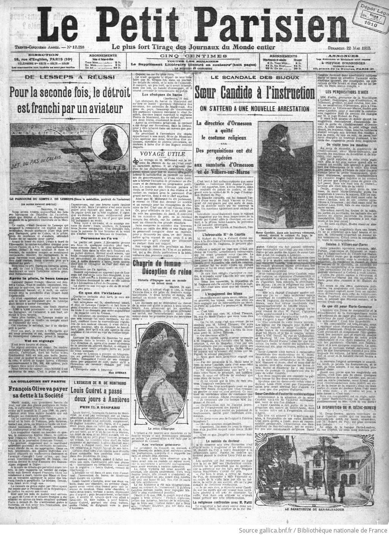 Le Petit Parisien : journal quotidien du soir   1910-05-22   Gallica