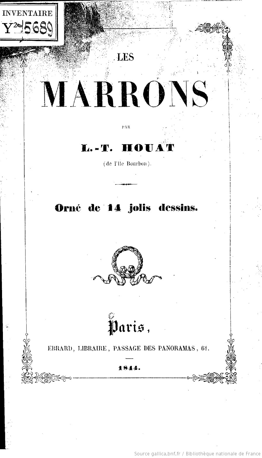 Les Marrons, par L.-T. Houat,...