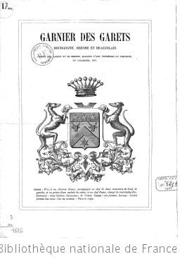 Garnier Des Garets. Bourgogne, Bresse et Beaujolais...
