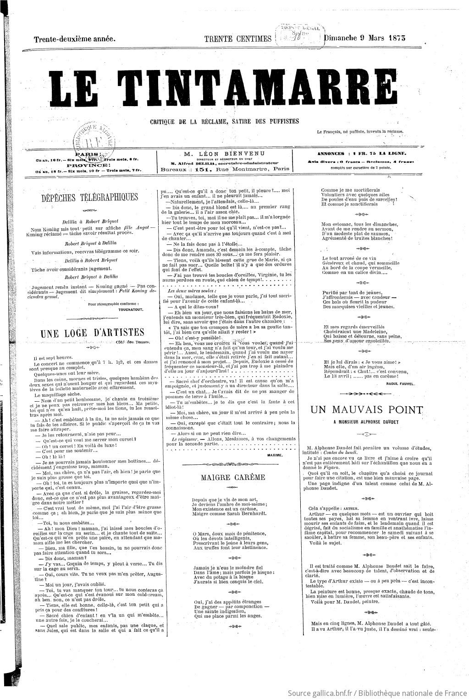 Le Tintamarre Critique De La Rclame Satire Des Puffiste Journal Dindustrie