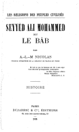 Seyyèd Ali Mohammed, dit le Bâb <br> A.-L.-M. Nicolas. 1905