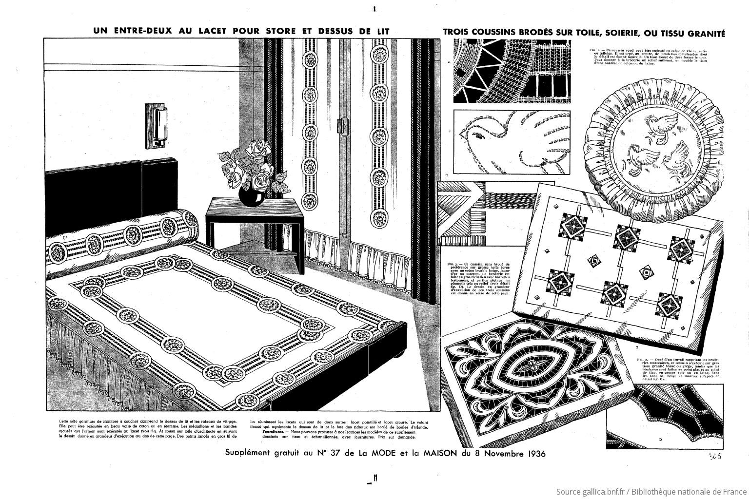 La Maison Au Dessus Des Voiles la mode et la maison   1936-11-08   gallica