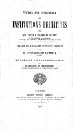 Illustration de la page Henry Sumner Maine (1822-1888) provenant de Wikipedia