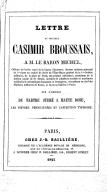 Bildung aus Gallica über Casimir Broussais (1803-1847)