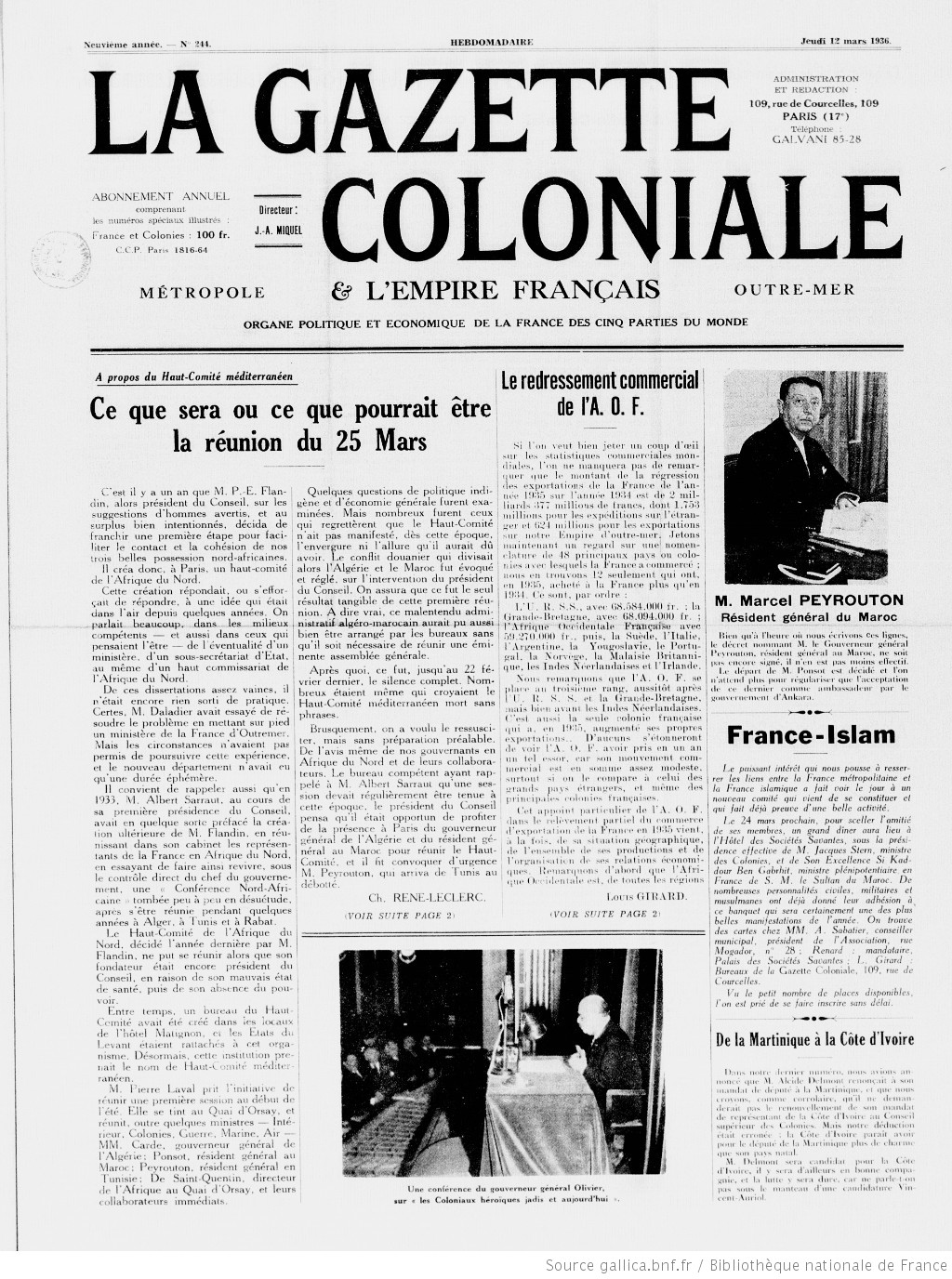 La Gazette coloniale [