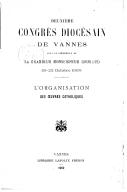 Image from Gallica about Eglise catholique. Diocèse. Congrès diocésain. Vannes (2 ; 1909 ; Vannes)