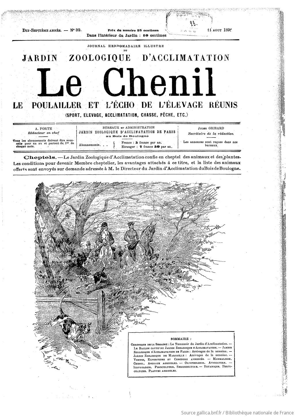 Le Chenil Journal Des Chasseurs Et Des Eleveurs Avec Le Stud