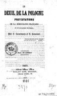 Félicité Robert de Lamennais (1782-1854)  Le deuil de la Pologne. 1847