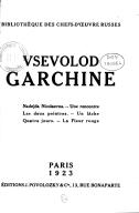 Image from Gallica about Vsevolod Mihailovič Garšin (1855-1888)