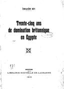 Trente-cinq ans de domination britannique en Égypte <br> I. Bey. 1919