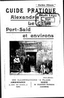 Guide pratique : Alexandrie, Le Caire, Port-Saïd et environs  Nilsson. 1907