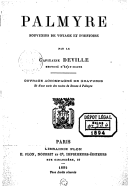 Image from Gallica about Palmyre (ville ancienne)