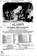 Aladin, ou La lampe merveilleuse : féerie nouvelle en quatre actes et vingt tableaux  1864