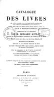 Catalogue (...) de 51 manuscrits orientaux dépendant de la succession du libraire de la Bibliothèque impériale, de l'Institut et du Sénat  1866