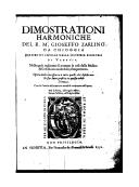 Illustration de la page Gioseffo Zarlino (1517-1590) provenant de Wikipedia