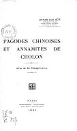 Pagodes chinoises et annamites de Cholon (26 photogravures)Van Luu Le. 1931