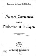L'Accord commercial entre l'Indochine et le Japon  1931