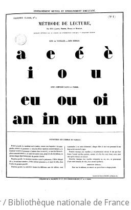Tableaux de lecture, avec ou sans épellation... par MM. Lamotte, Perrier, Meissas et Michelot...