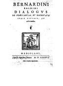 Illustration de la page Bernardino Baldini (1515-1600) provenant de Wikipedia