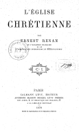 Tome 6. L'Église chrétienne  1879