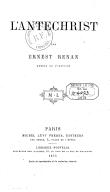 Tome 4. L'antéchrist  1873