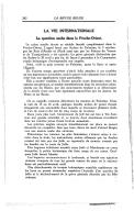 La question arabe dans le Proche-Orient  R. Crabbé. Revue belge