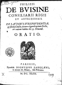 Image from Gallica about Philippe de Buisine (16..-1667)