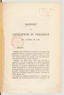Rapport sur l'entreprise du percement de l'isthme de Suez  P. Marquet, chambre de commerce de Limoges. 1865